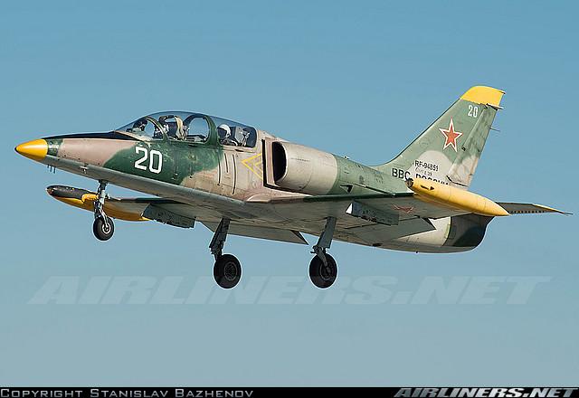 Учебно-тренировочный самолет L-39C ВВС России (регистрационный номер RF-94851), март 2014 г.