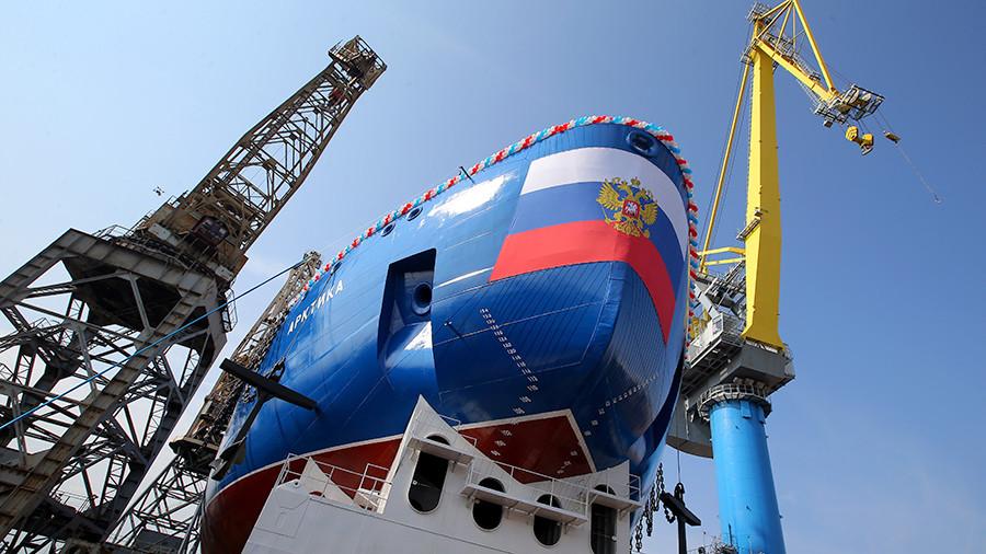 Строительство головного российского атомного ледокола проекта 22220 «Арктика».