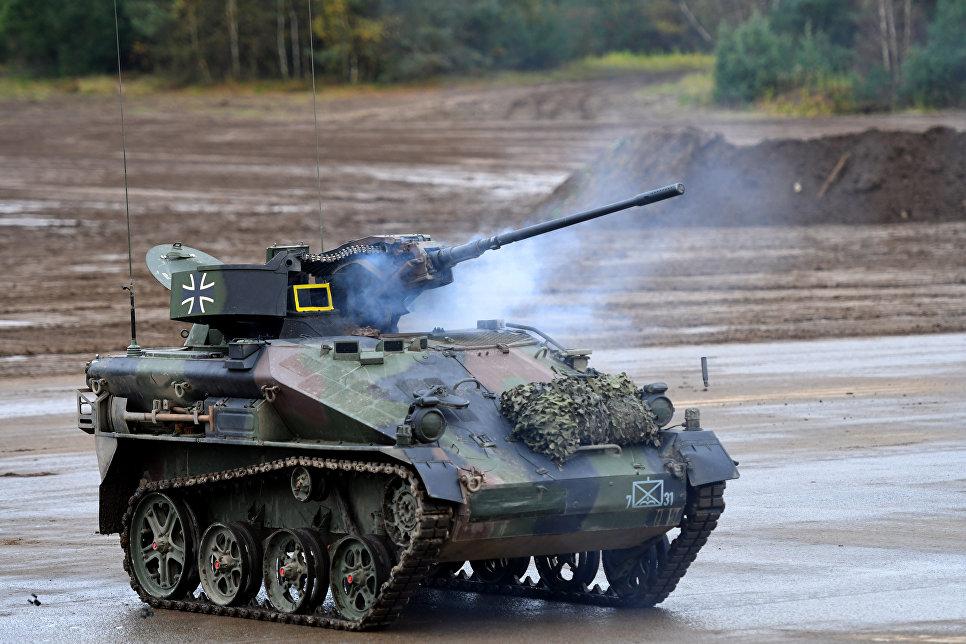 Легкая авиадесантируемая боевая машина Wiesel 1 MK вооруженных сил Германии.
