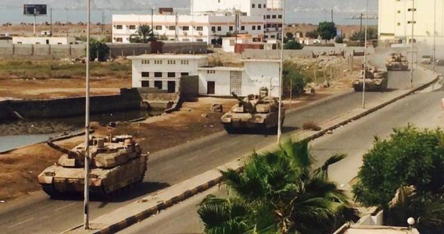 Применение танков в Йемене Авиация