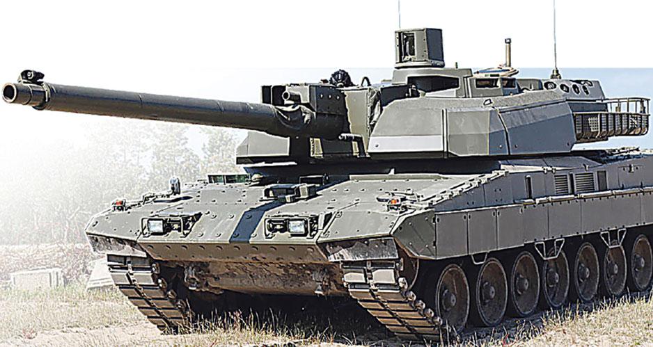 """Шасси от """"Леопард-2А7"""" с башней от французского """"Леклерка XLR""""."""