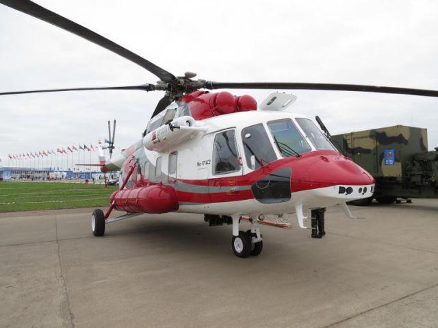 Летные испытания второго опытного образца вертолета Ми-171А2. Архивное фото.