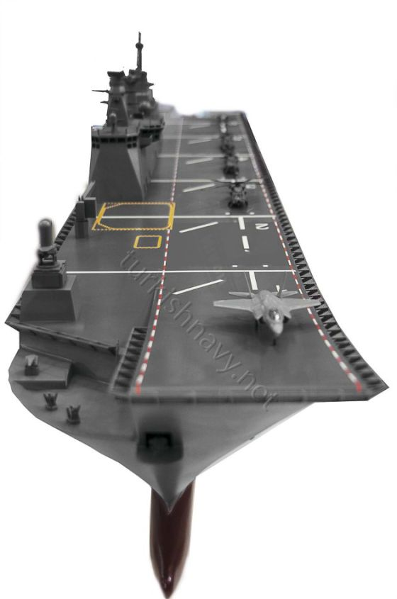 Модель турецкого авианосца