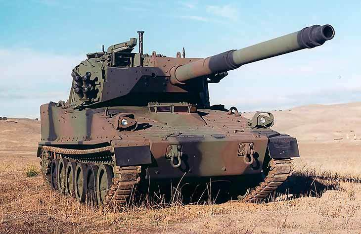 Лёгкий танк М8, от которого Минобороны США отказалось в 1996 году.