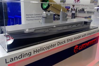 Проект нового десантного вертолетоносца, представленный концерном Leonardo на морской части выставки LIMA-2017.