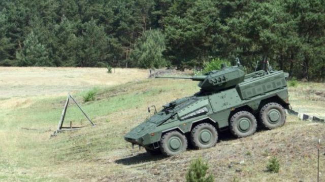 Литовский вариант ББМ Boxer с модулем Rafael Samson Mk II