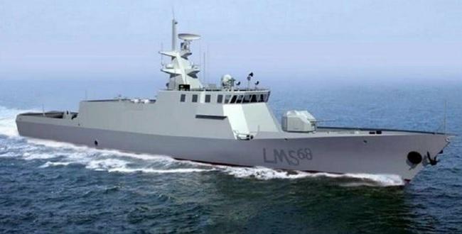 Изображение патрульного корабля проекта LMS68, заказанного для ВМС Малайзии в Китае.