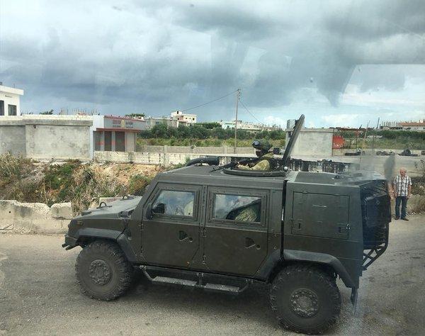 """Бронеавтомобиль ВС России IVECO LMV M65 """"Рысь"""" в Сирии."""