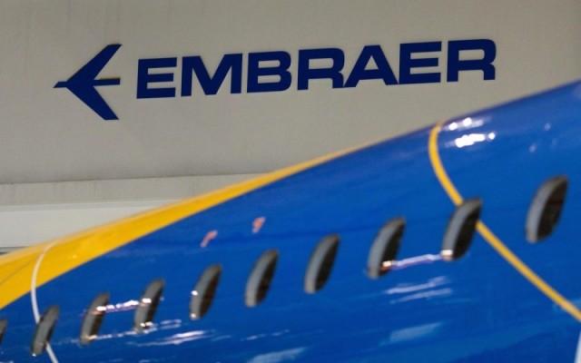 Логотип бразильской авиастроительной компании Embraer