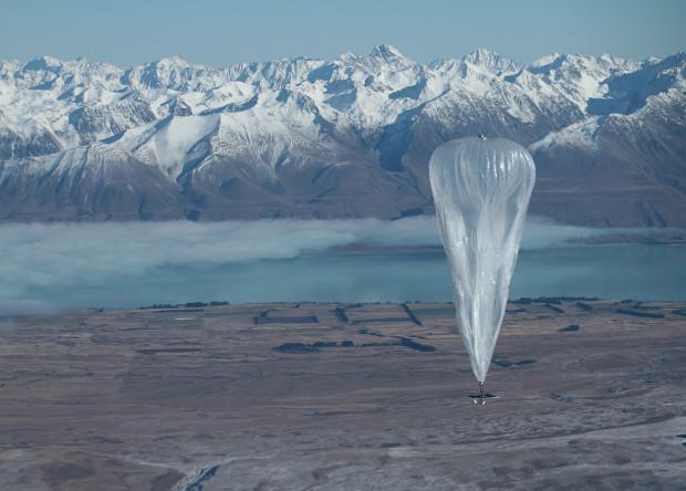 Стратостат Loon в Новой Зеландии.