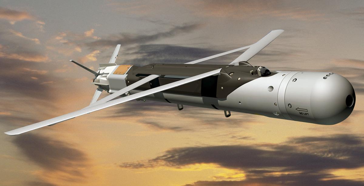 Изображение  планирующей управляемой авиабомбы с лазерным наведением LSDB.