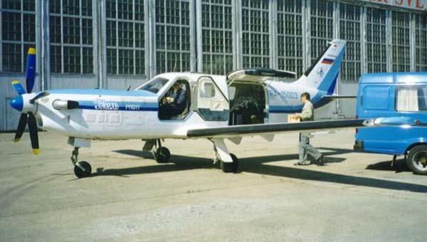 Легкий многоцелевой самолет М-101Т Гжель<br>Источник: http://avia-rest.przd.ru/.