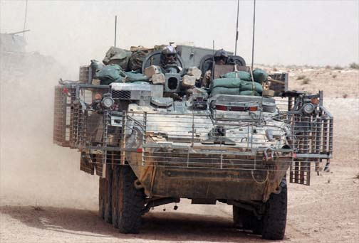 Легкобронированная боевая машина M1135 Stryker.