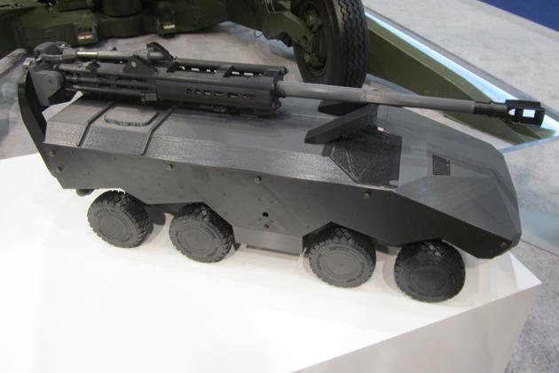 Макет гаубицы М777 на шасси бронетранспортера «Энигма».