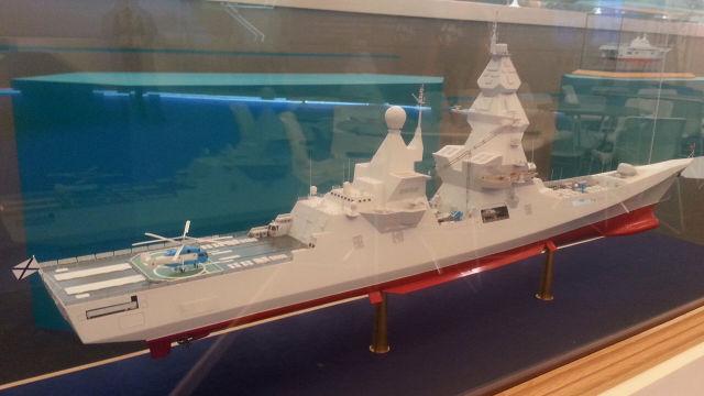"""Макет эсминца """"Лидер"""" на выставке """"Армия 2015"""""""