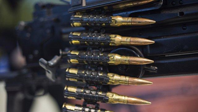 Макет 12.7 мм. пулеметной ленты российского крупнокалиберного пулемёта Корд.