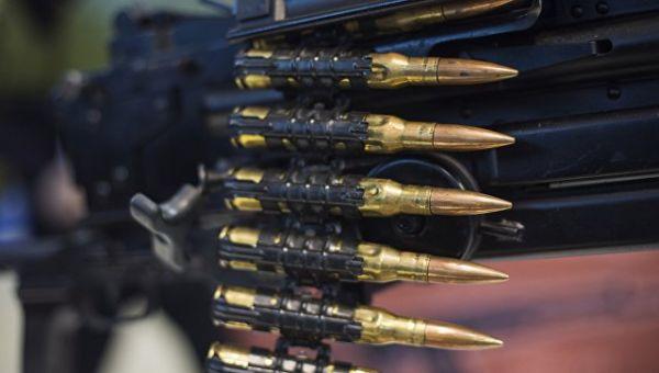 Макет 12.7 мм. пулеметной ленты российского крупнокалиберного пулемёта Корд