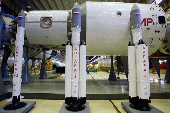 Макеты ракет «Ангара»