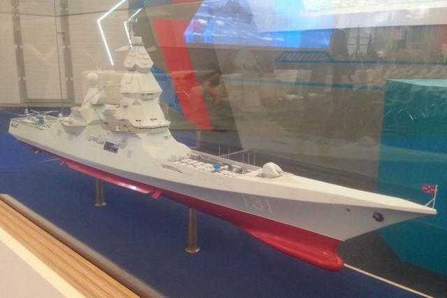 """Макет эсминца на выставке """"Армия 2015"""""""