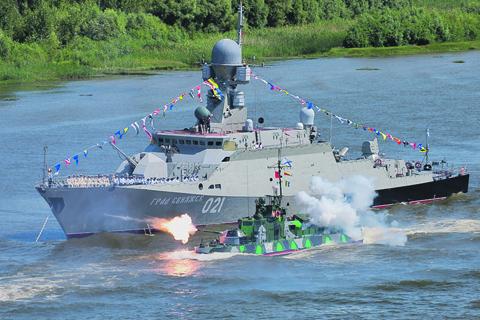Малый ракетный корабль «Град Свияжск» – головной корабль проекта 21631 «Буян-М». Фото с сайта www.mil.ru