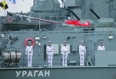 """Малый ракетный корабль проекта 22800 с """"Орланом-10"""" на борту. Фото Артема Амбарцумяна"""