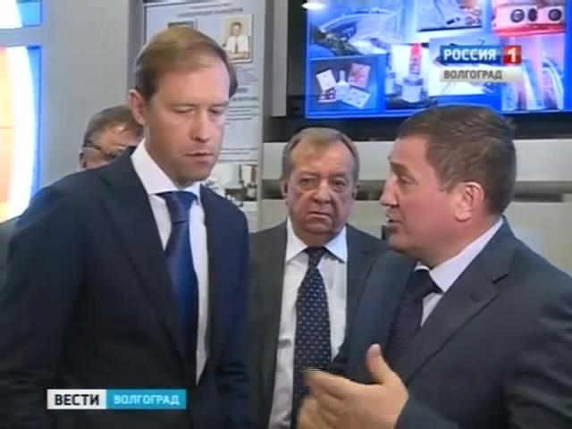 Глава Минпромторга России Денис Мантуров в Волгоградском техническом университете.