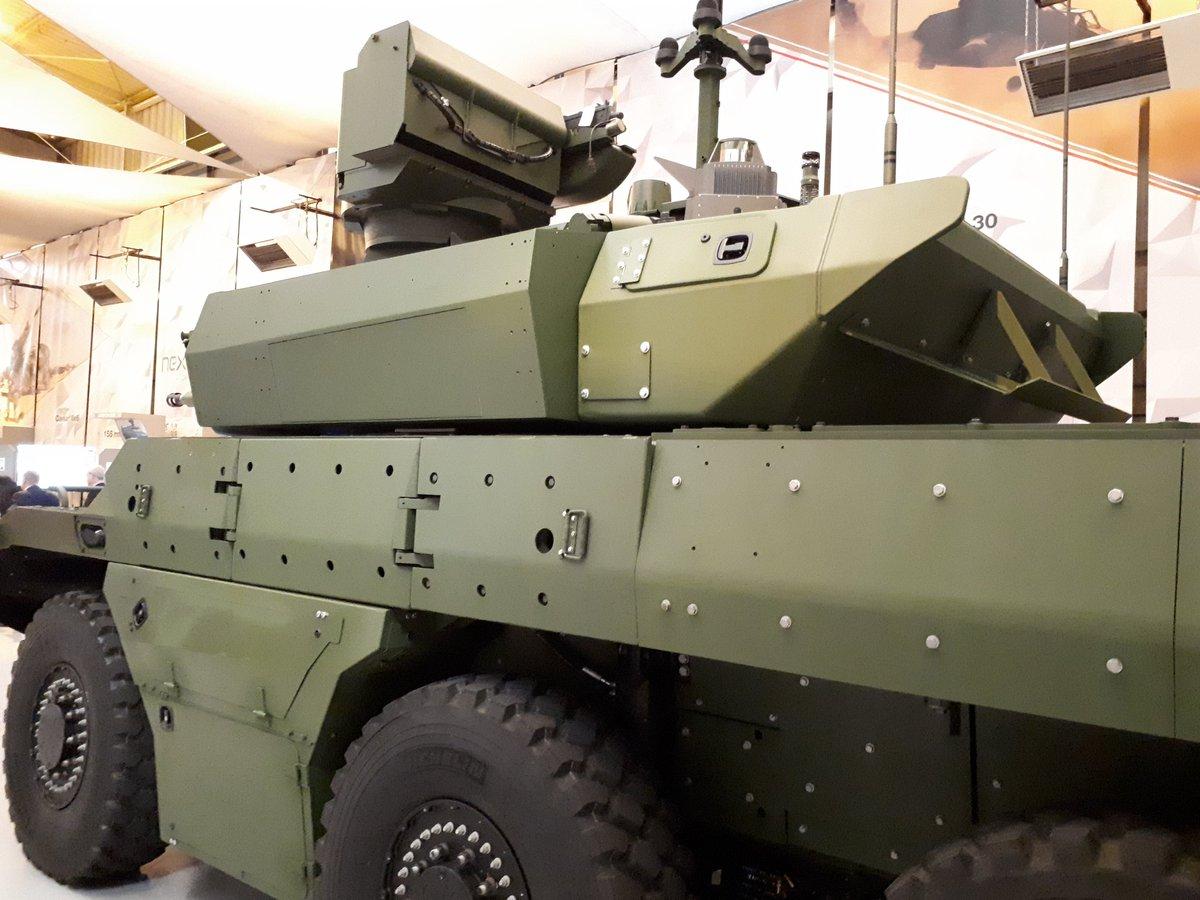 """Первый прототип перспективной французской """"разведывательно-боевой"""" бронированной машины EBRC Jaguar, 16.05.2018."""