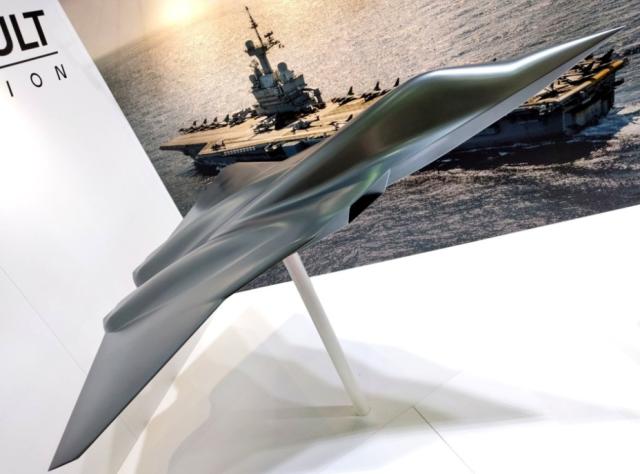 Масштабный макет истребителя NGF.