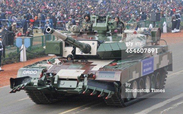 Индийский основной боевой танк MBT Arjun Mark-II.