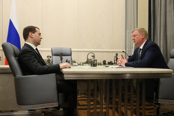 Дмитрий Медведев и Анатолий Чубайс.