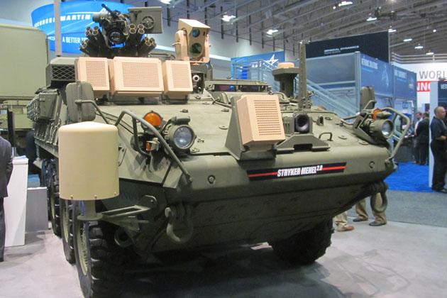 Колесная легкая бронированная машина с лазером получила обозначение Stryker MEHEL  2.0 (Mobile Expeditionary High Energy Laser — Мобильный экспедиционный высокоэнергетический лазер).