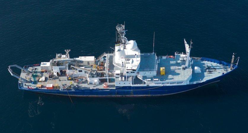 Планируемое к передаче Филиппинам гидрографическое судно Melville, юридически принадлежащее Командованию морских перевозок ВМС США и эксплуатировавшееся Океанографическим институтом Скриппса в Сан-Диего. За время эксплуатации прошло свыше 2,8 млн морских миль. Снимок 2014 года.
