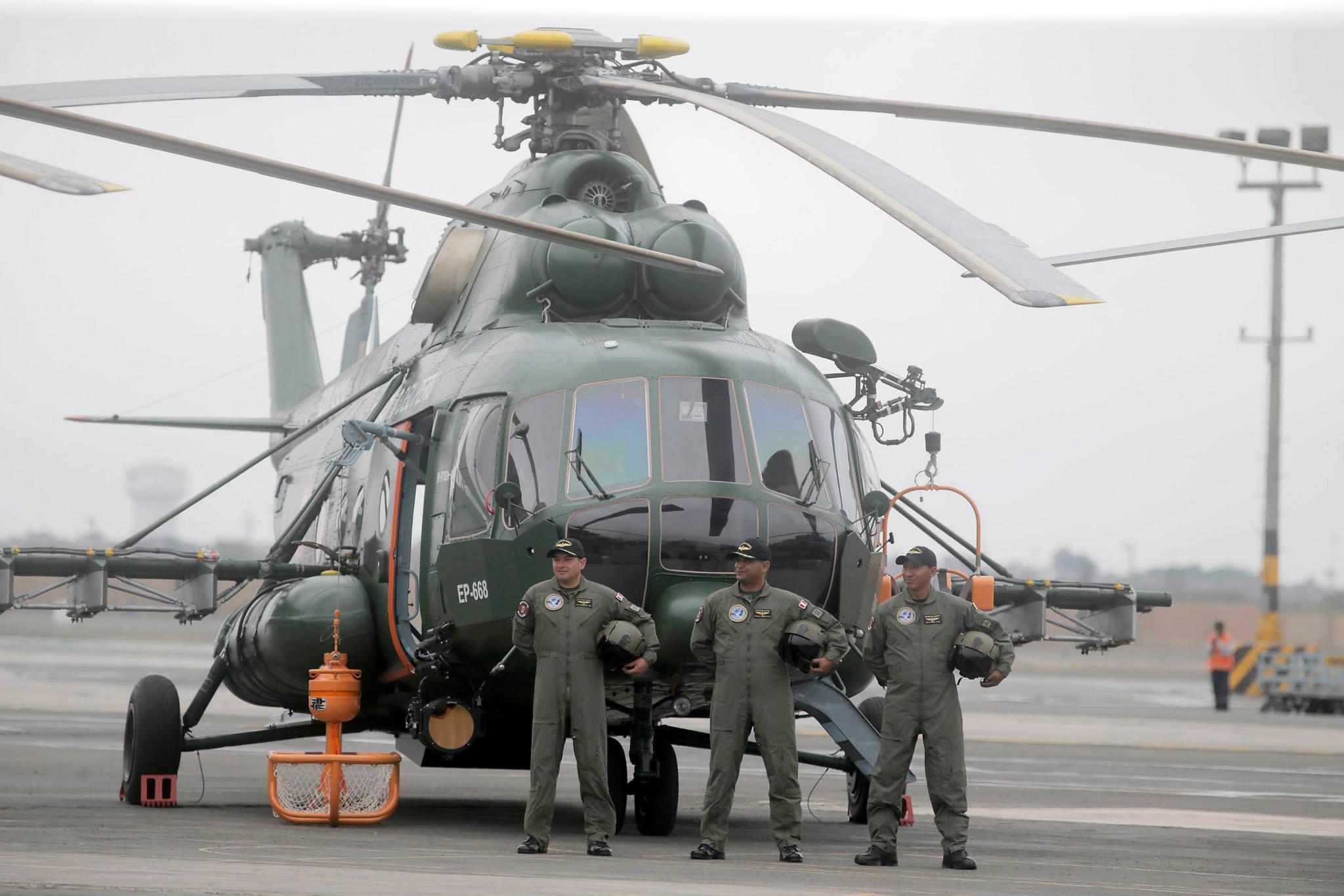 Вертолет Ми-171Ш в Перу.