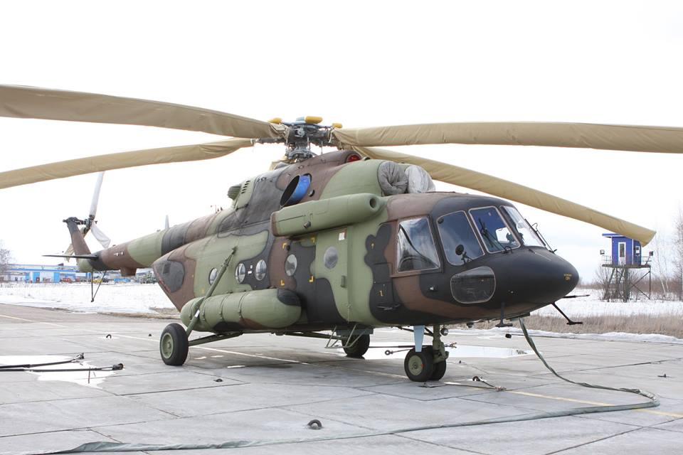 """Вертолет Ми-17В-5, построенный на АО """"Казанский вертолетный завод"""" (КВЗ) для ВВС и ПВО Сербии по контракту 2015 года. Опознавательные знаки пока не нанесены. Казань."""