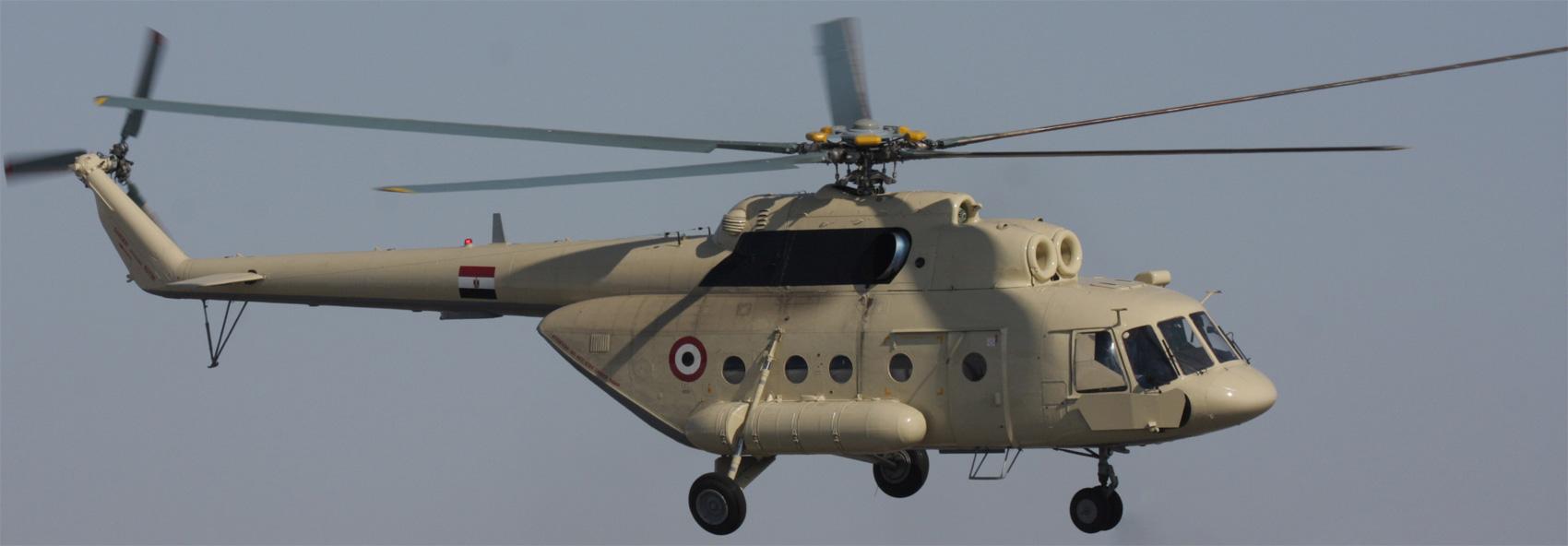 Вертолет Ми-17В-5 Военно-воздушных сил Египта.