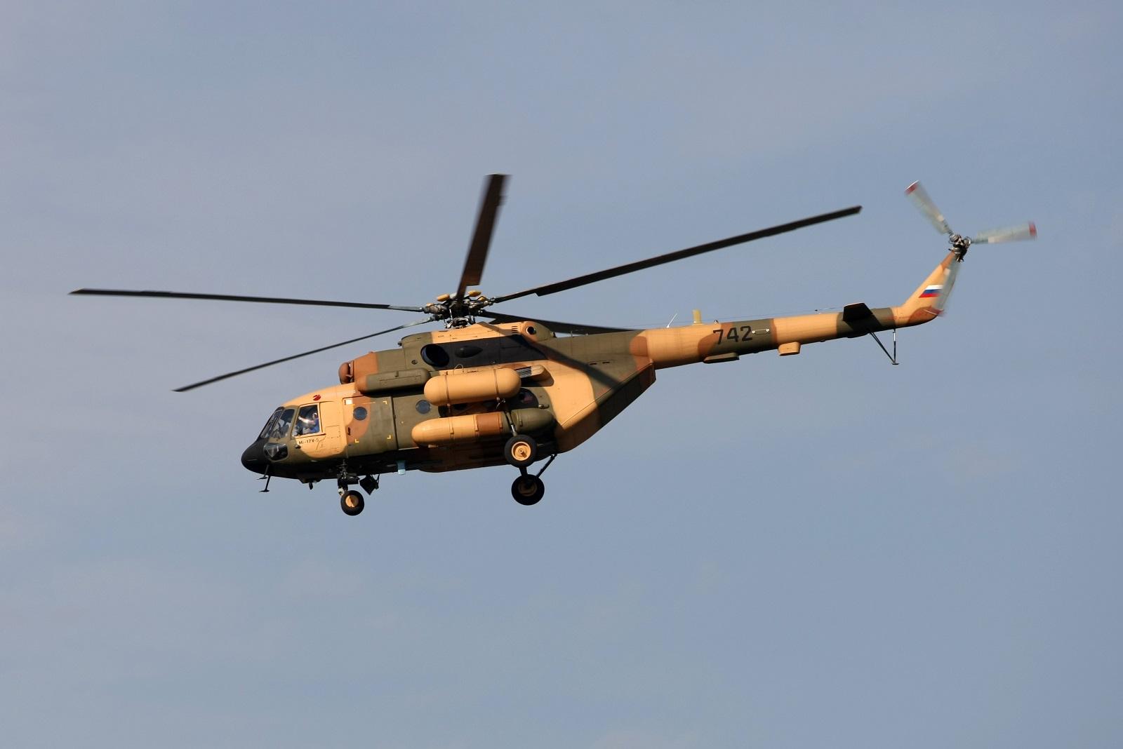 Военно-транспортный вертолёт Ми-17В-5.