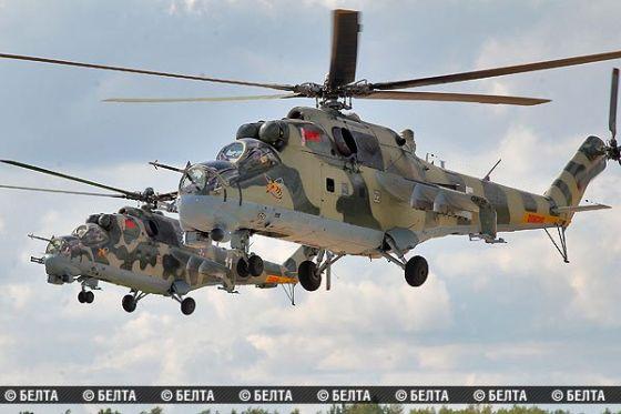 Боевые вертолеты Ми-24П