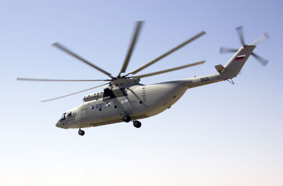 Тяжелый транспортный вертолет Ми-26Т2.