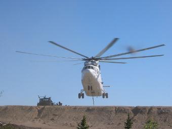 Ми-26Т3 Вертолет топливозаправщик с дополнительными баками для топлива.