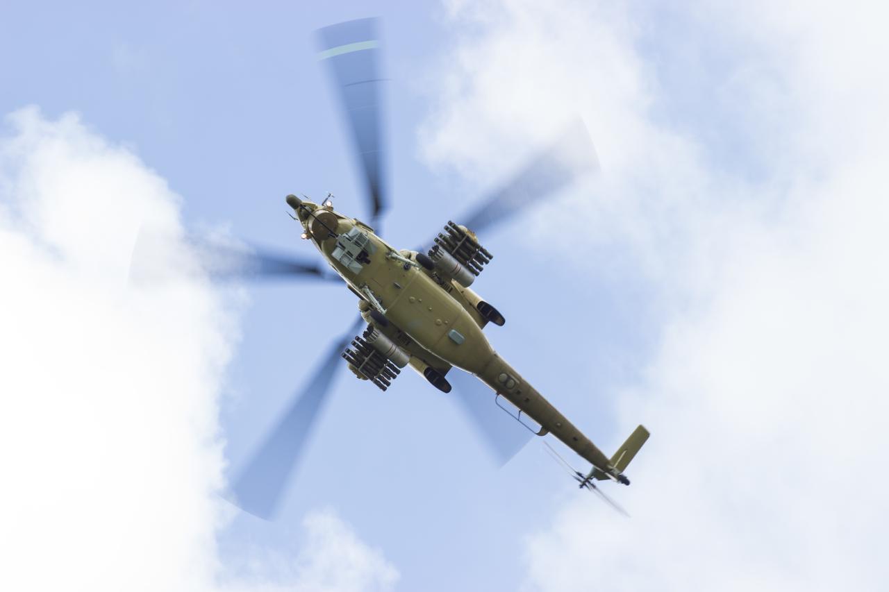 Ударный вертолет Ми-28Н. Фото Эрика Романенко.