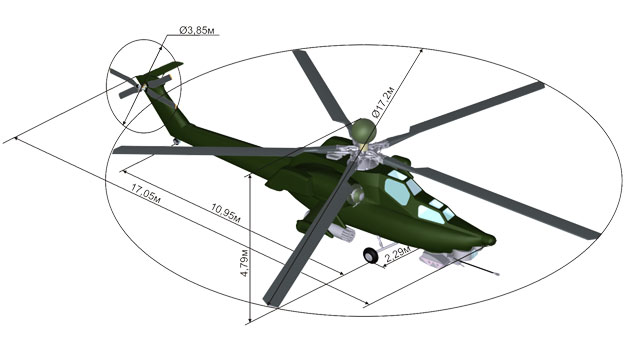 По сравнению с Ми-24 у Ми-28 в 1,5 - 2 раза снижена заметность в инфракрасном диапазоне (при тех же двигателях)...