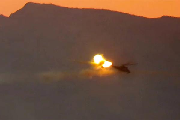 Боевой вертолет Ми-35М, сбитый в Сирии 8 июля 2016 года.