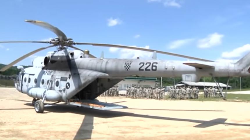 Транспортный вертолет Ми-171Ш ВВС и ПВО Хорватии (бортовой номер 226) .