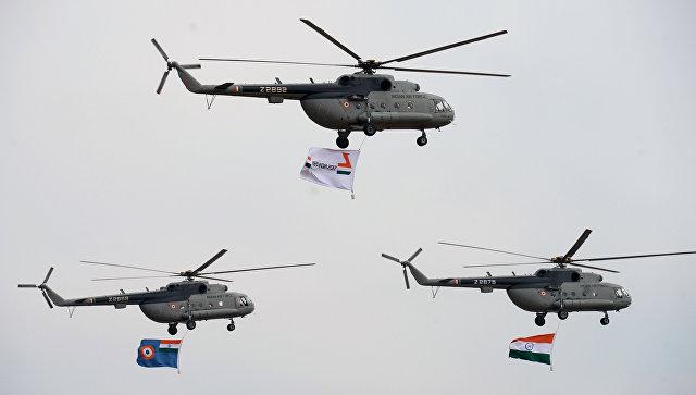 Вертолеты Ми-17 V5 ВВС Индии.