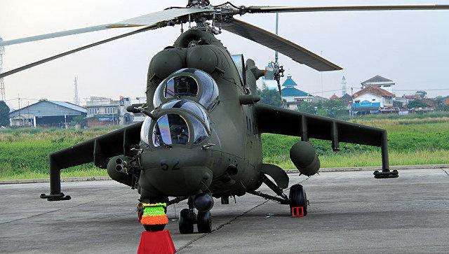 Ми-35П в Индонезии.