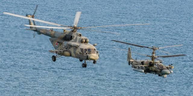 Ми-8 и Ка-52