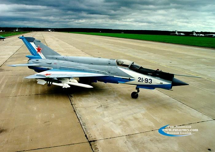 Советский многоцелевой истребитель МиГ-21 (самолёт И-500, НАТО: Fishbed)<br>Источник: http://www.rusarmy.com/photo/