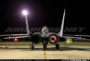 """Истребитель МиГ-29 (""""9-12Б"""") ВВС Болгарии (бортовой номер 26, серийный номер 2960532382/4314)."""