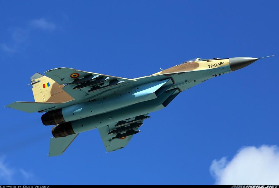 Истребитель МиГ-29 (чадская регистрация ТТ-ОАР), предназначенный для поставки с Украины ВВС Чада. Львов, май 2014 года