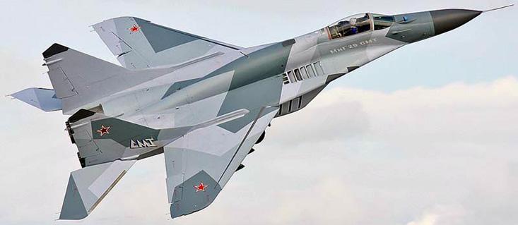 Истребитель МиГ-29СМТ.